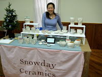 Snowday Ceramics Booth at From Scratch Market