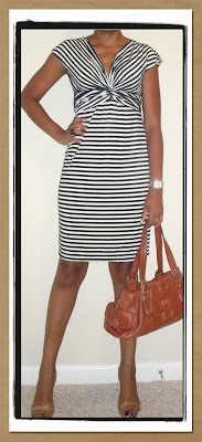 Weekend Chic:  Max Studio Striped Dress