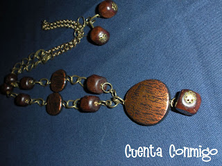 collar madera bronce