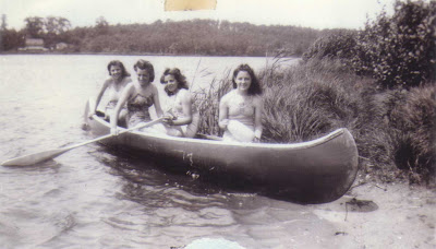 Del and Friends in a Canoe - circa Summer 1940