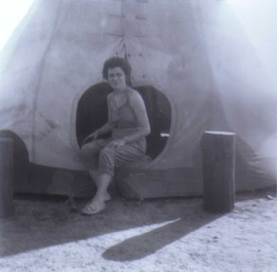 Doralice and a Teepee - Oklahoma - The 1954 Trip to California