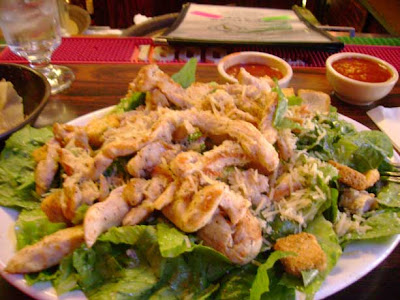 Caesar Salad with Fajita Chicken