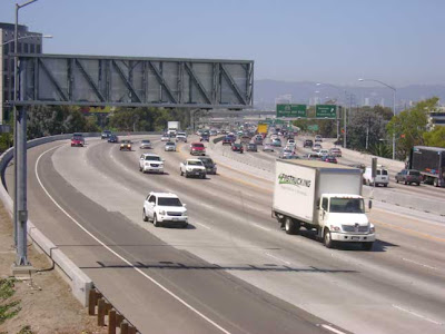 The 405 Freeway Looking North.