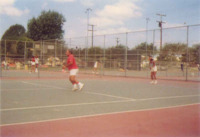 Louis Playing Tennis - 1978