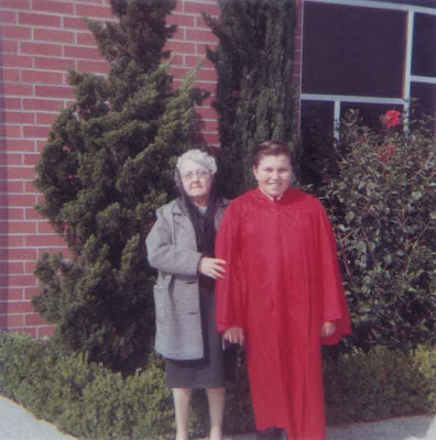 Blanche and Brian at His Confirmation - 1970