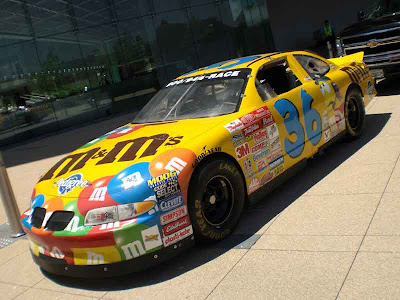 Race Car Sponsored by M&M's
