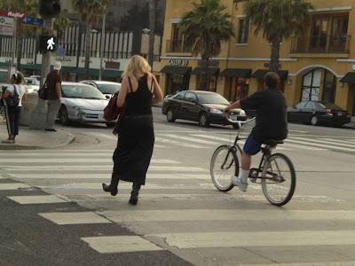 One Walks, the Other Bikes - Santa Monica