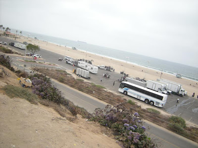 Production Crew at Dockweiler Beach