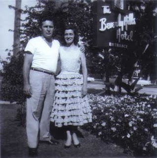 Mom and Dad at the Beverly Hills Hotel