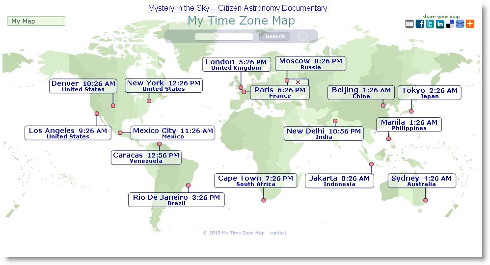 visualizzare l 39 ora esatta di tutte le citt del mondo