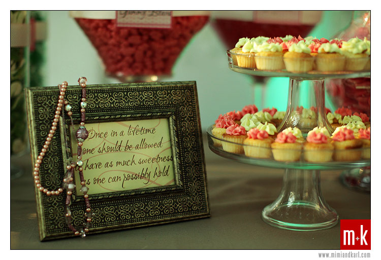 This is the quotation displayed in the candy buffet