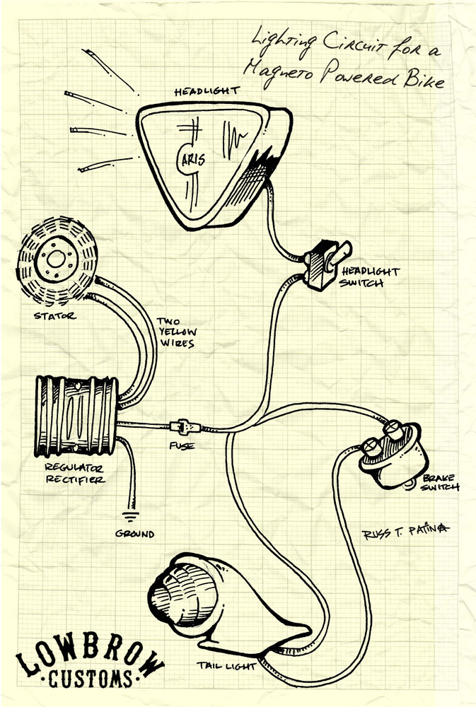 Wiring Diagram For Four Way Switch : New biltwell triumph wiring diagrams