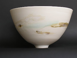 Thrown porcelain bowl