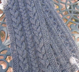Knitting Pattern For Seaman s Scarf : CatBookMoms Yarns: Plaited Cables Seamans Scarf