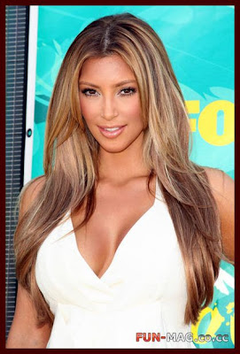 Kim Kardashian Blonde Color Makeover Photo Shoot