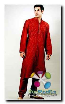 men's embroidered kurta