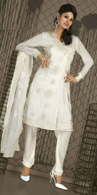 Latest Anarkali Churidar Designs 2011, Chirudar Styles 2011, White Churidaar 2011 Catalogue churidar designs