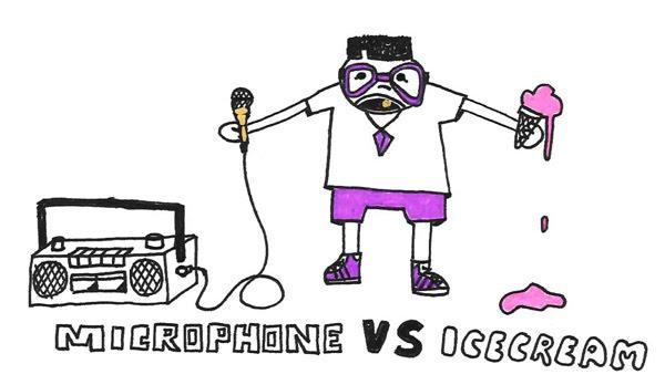microphone vs icecream