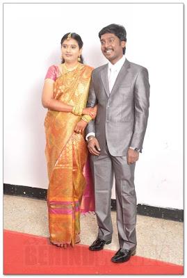 Actor Vijay Vasanth and Nithya reception still