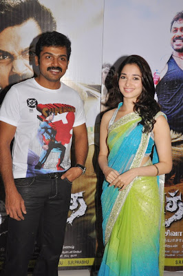 Karthi and Tamanna in Siruthai stills