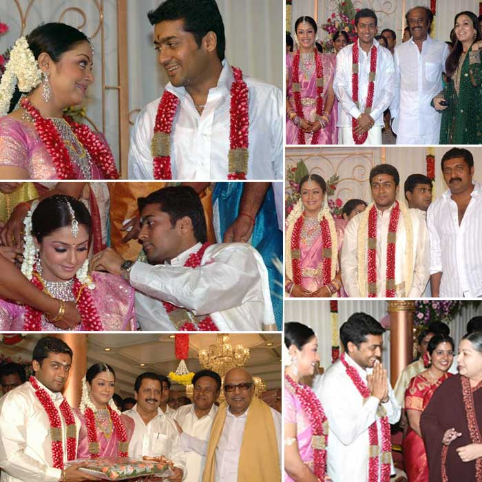 Actor Surya Jyothika Photos Surya Jyothika Marriage Photos