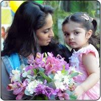 Shalini and baby