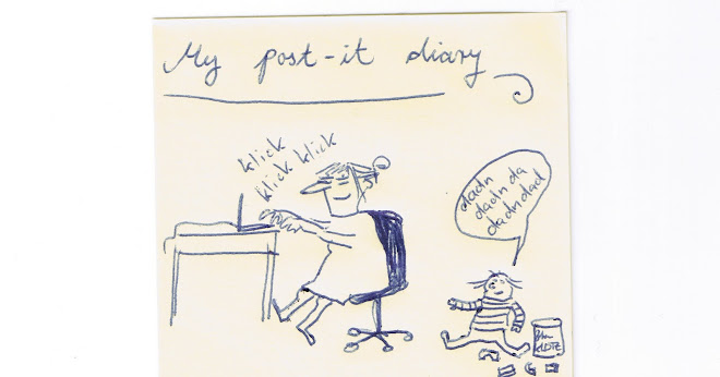 My post-it diary: The smallest problems in the world.
