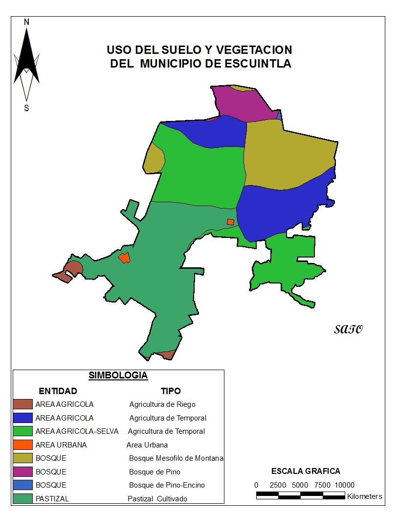 Escuintla chiapas s ntesis de informaci n geogr fica for 4 usos del suelo en colombia