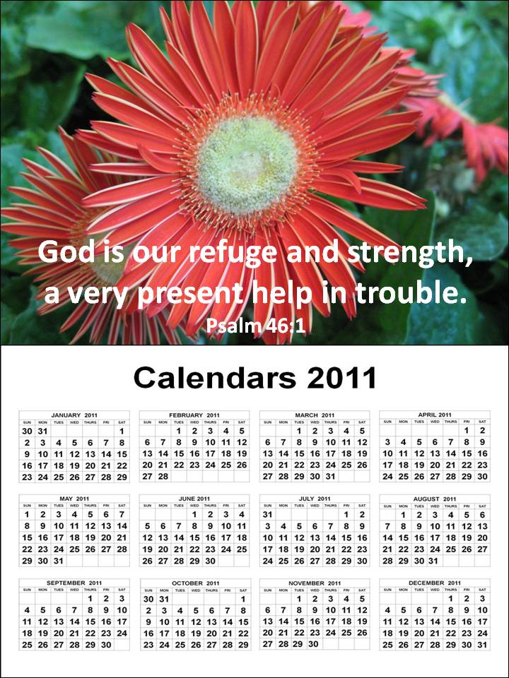 yearly calendar 2011. Free Christian 2011 Calendar