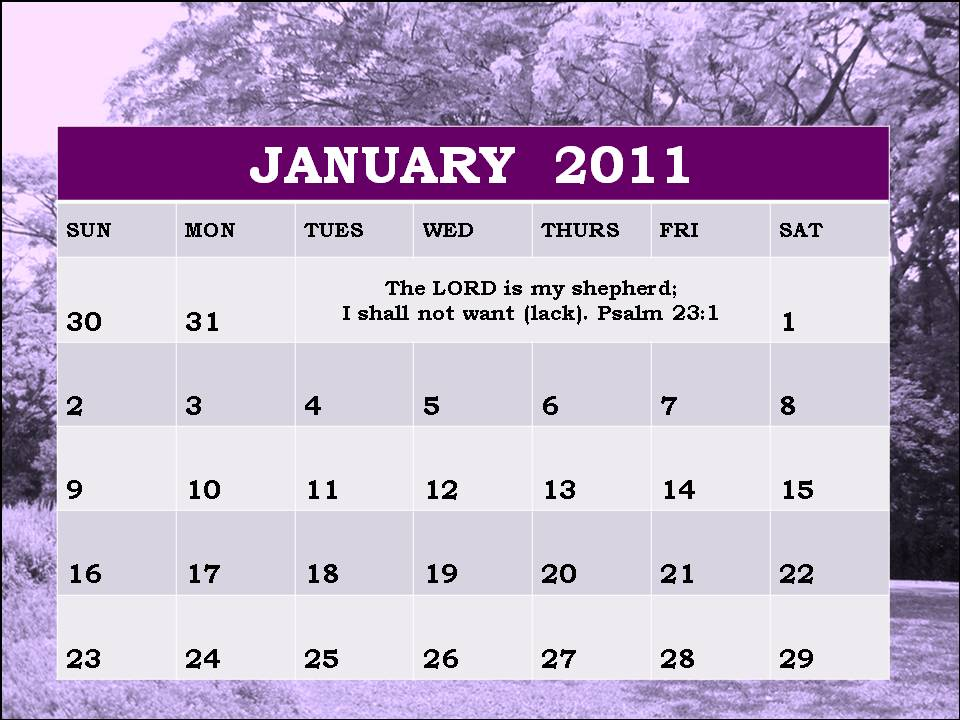 January Pictures For A Calendar 2011. Christian January 2011 Planner