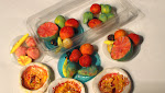 FIMO fruit and food on the sideboard