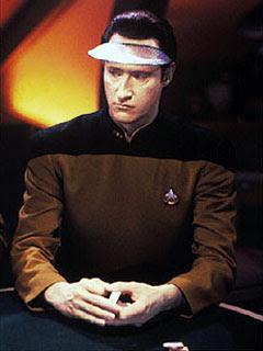 Data Playing Poker on Star Trek