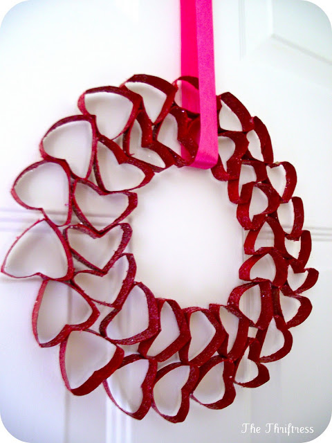 recycling paper: valentine's day wreath tutorial
