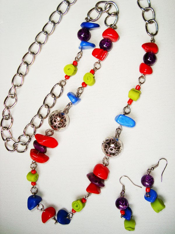 Collares y artesanias collares de colores con piedras y - Piedras para collares ...