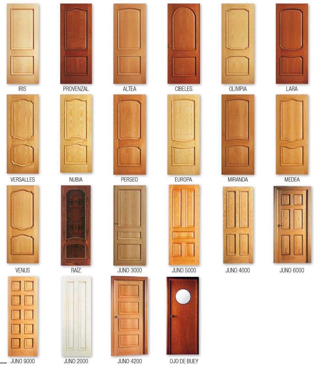 Conmadera carpinter a ebanisteria puertas de paso for Catalogo de puertas de madera para interiores