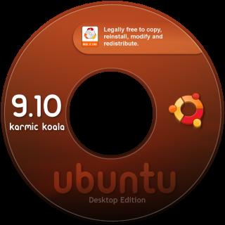 CD Labels Ubuntu 9.10