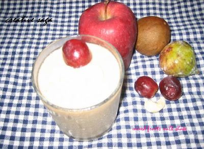 mixed fruits milkshake