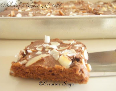 chocolate banana nut squares