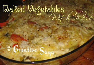 baked veges with cheese