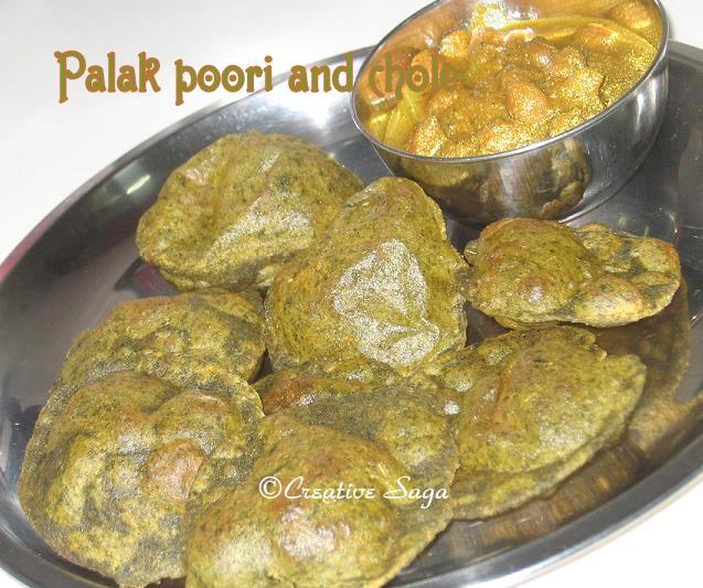 palak poori/chole