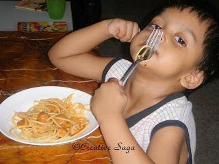 soya chunks spaghetti