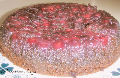 blueberry upside down chocolate cake