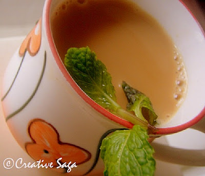 mint/pudina tea/chai