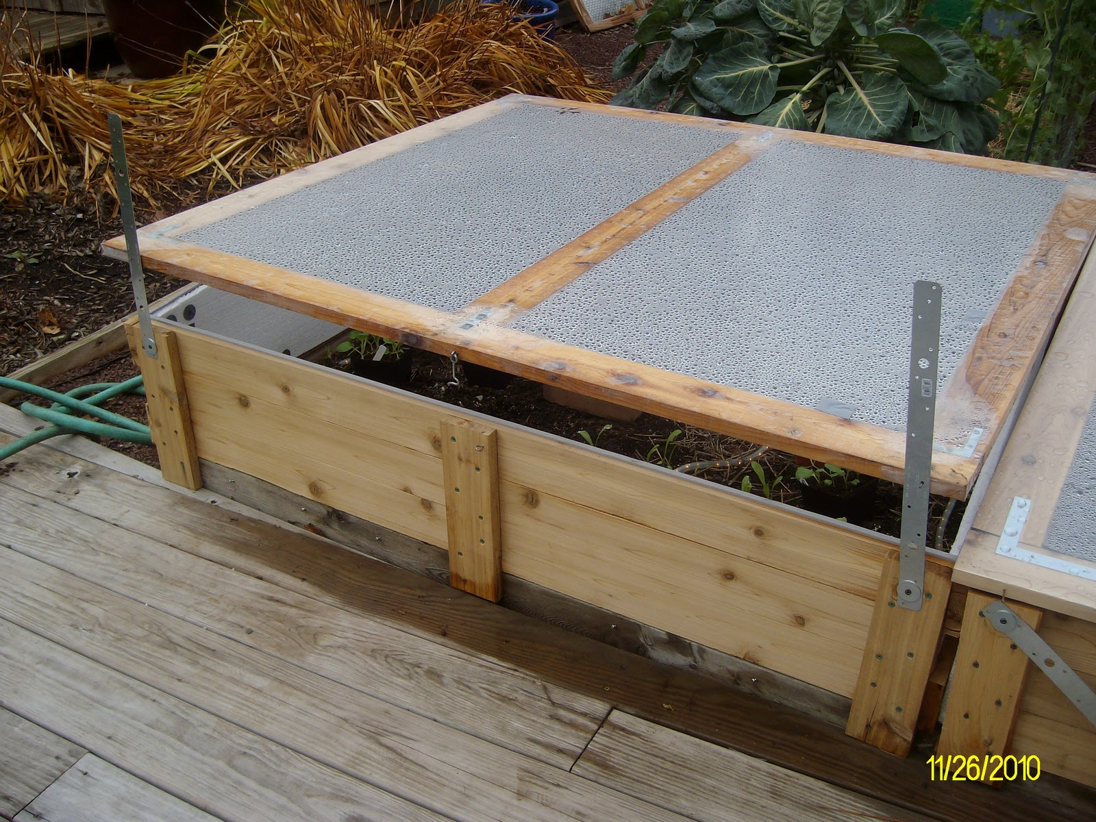 The Gardener of Eden: Building Cold Frames - the finishing touches