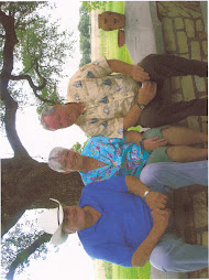 Legendary football coach Bum Phillips, Debbie and Ted on their farm in Goliad, Texas