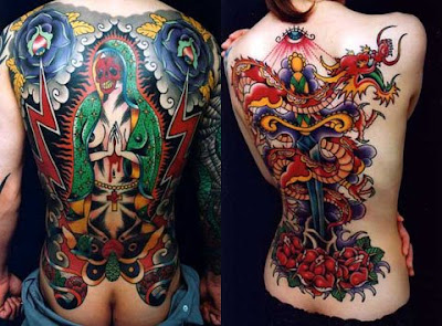 permanent body tattoo snake-women, men are very good coloring design