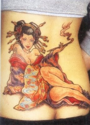 Tatto Girl on Back