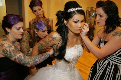 Tattooed brides,wedding