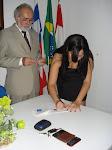 Camila já com sua Carteira da OAB, e mais uma advogada na familia