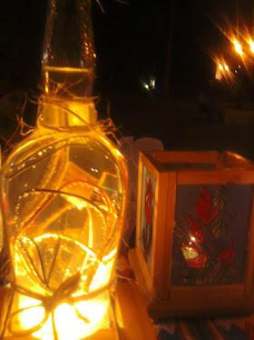 una lampara botella